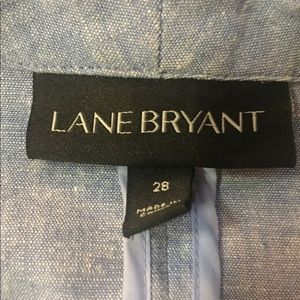 Lane Bryant Jackets & Coats - Lane Bryant Chambray Blazer Sz 28 Gently Used